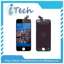 Cracked for iphone 5 mobile phone lcd, lcd screen for iphone 5 with factory price,for iphone 5 display
