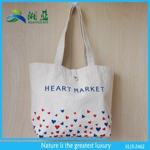 2015 hot selling natural canvas tote bags with pockets inside