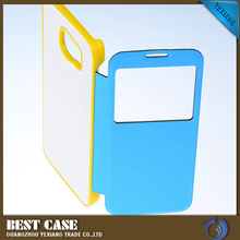 cheap price mobiile accessories flip leather case 3d sublimation case for samsung galaxy s4 s4 mini