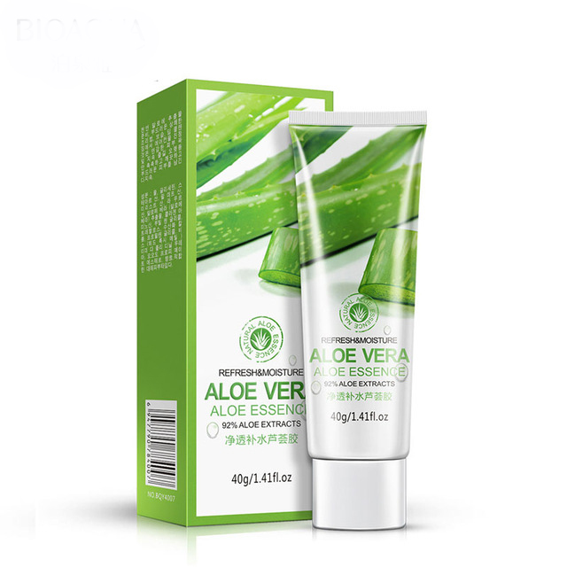Natural Moisturizing Whitening Acne Remover Sun Repairing Aloe Vera 92% Soothing Face Gel
