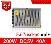Best price constant voltage 5vdc 40ampere 200w ac-dc power supply for led display
