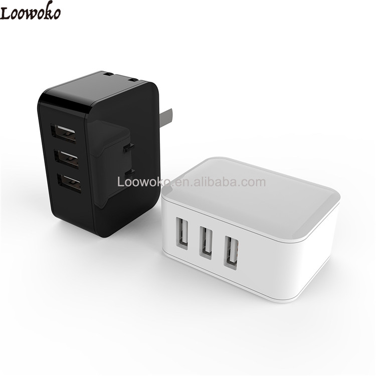Qualcomm Quick Charge 3.0,3 Ports wall Charger 36W LC-W05