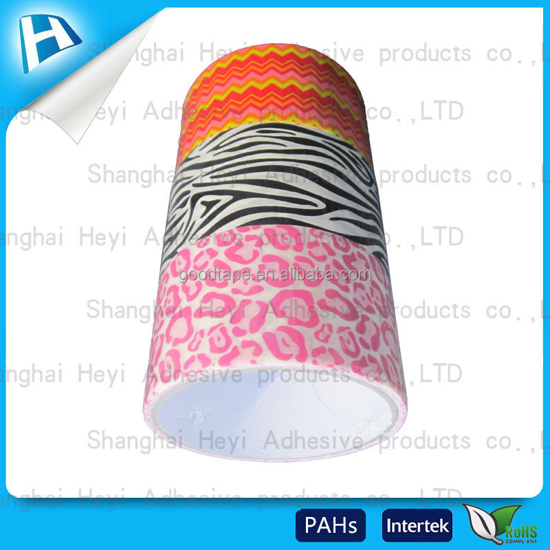 2017 beautiful custom hot printing cheap pvc duct tape