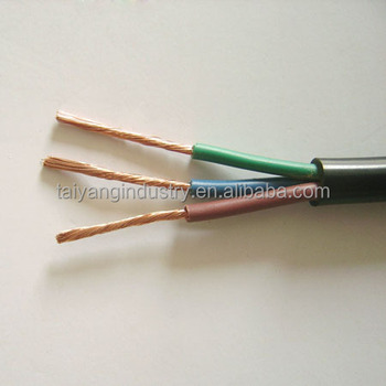 PVC Insulated Circular Flexible Cable H07VV-K 2.5mm2