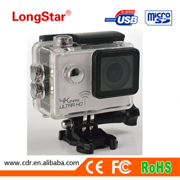 Trade Assurance Action Camera 4K Wifi Sports Camera 2-inch Screen 4K (3840*2160) 24FPS YM-DVS8000