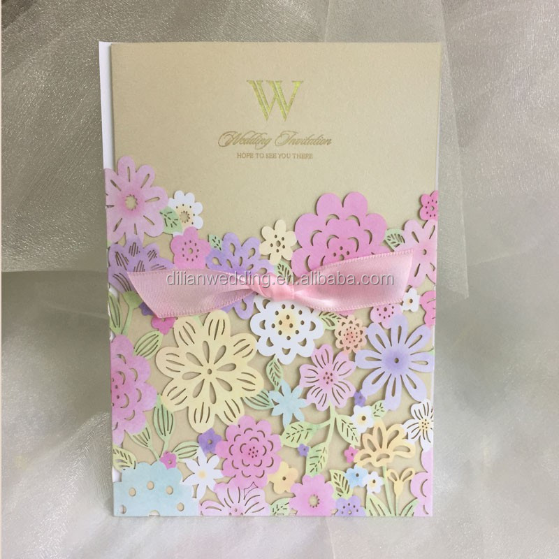 Pink Arabic Wedding Invitation Cards - Buy Arabic Wedding Invitation ...