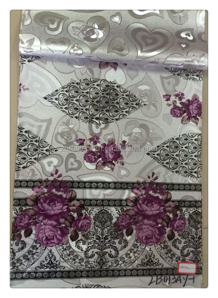 MADE IN CHINA LAMINATED METALLIC PVC TABLECLOTH