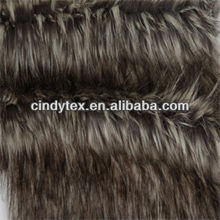 70mm long hair plushed soft white/grey acrylic polyester imitation raccoon faux fur fabric