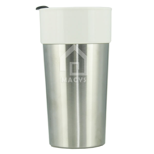 400ml/14oz Starbucks stainless steel ceramic coffee mug cup with lid