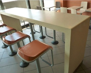 Long Breakfast Bar Table And Chair For Kfc Buy