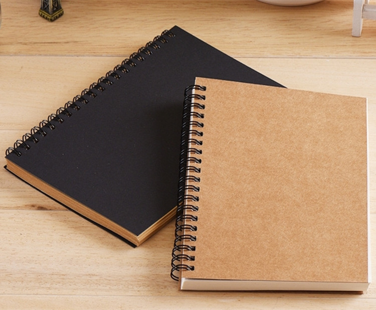 Best Wholesale Blank Black Drawing Sketchbook With 100 Pages Kraft Paper