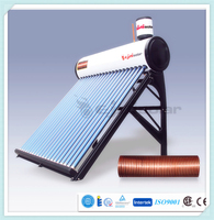 2015 preheated thermosiphon solar water heater offering fresh and high quality water for domestic use ( ISO9001,CE,CCC,SRCC)