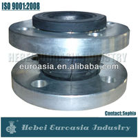 Single Sphere Galvanized Flanged Elastic Rubber Expansion Joint