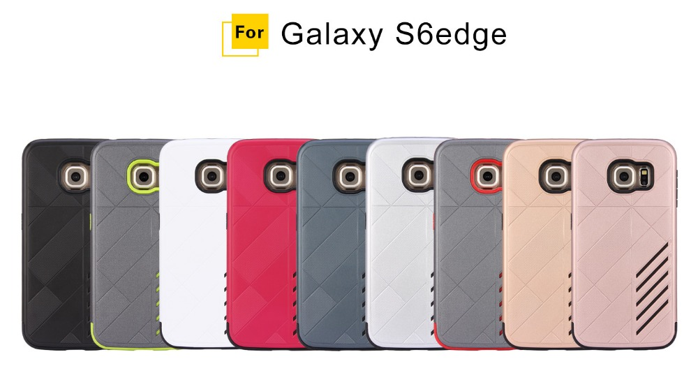 Phone Case 2 in 1 TPU + PC For Samsung galaxy s6 s6 edge Hard Back Cover Hybrid Plastic Case
