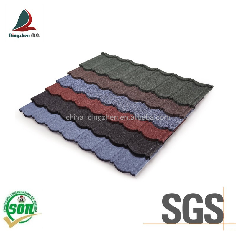 Soncap Certificate Colorful Fashion Roofing Material Metal Roofing Tiles