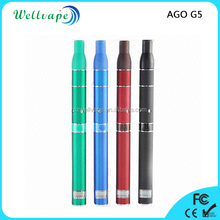 Wholesale various color LCD screen battery ago g5 dry herb globe glass vaporizer
