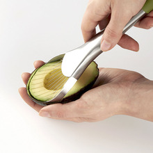 Premium Quality 2 in 1 kitchen tool Stainless Steel Avocado Slicer and Pitter
