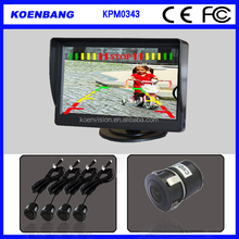 Video Car Parking Sensors Reverse Backup Radar System Kit Parking Assistance 4 Sensors 12V Work with Car Monitor