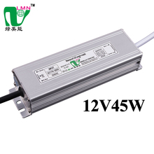 12V 45W Constant Voltage Waterproof led driver led transformer