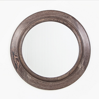vintage magic mirror photo frame round mirror