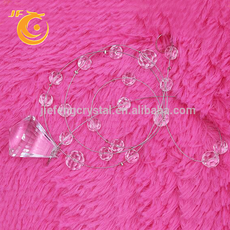 Wholesale glass crystal ball wedding decoration clear crystal diamond shape chandelier crystal prism