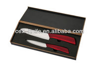 Wooden gift box chef ceramic knife set