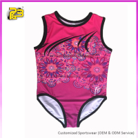 Custom made sublimation girls polyester spandex gymnastic leotards