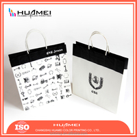 Hand Tabs OEM Gift Printed Paper shopping for bag for washing bag