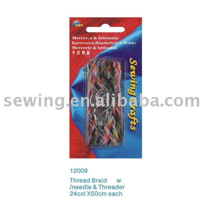 D&D embroidery thread braid zhejiang factory product sewing thread kit(12009)