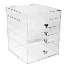 Acrylic Makeup Organizer Cube | 4 Drawers Storage Box For Vanity Tables