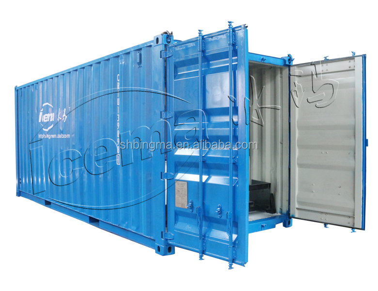 Containerized 10t/24h block ice maker mobile type for ice factory