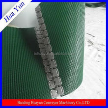 5mm rough top PVC conveyor belt with fastener for Logistic