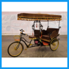 Three Seaters Electric Three Wheel Passenger European Carriage Tricycle