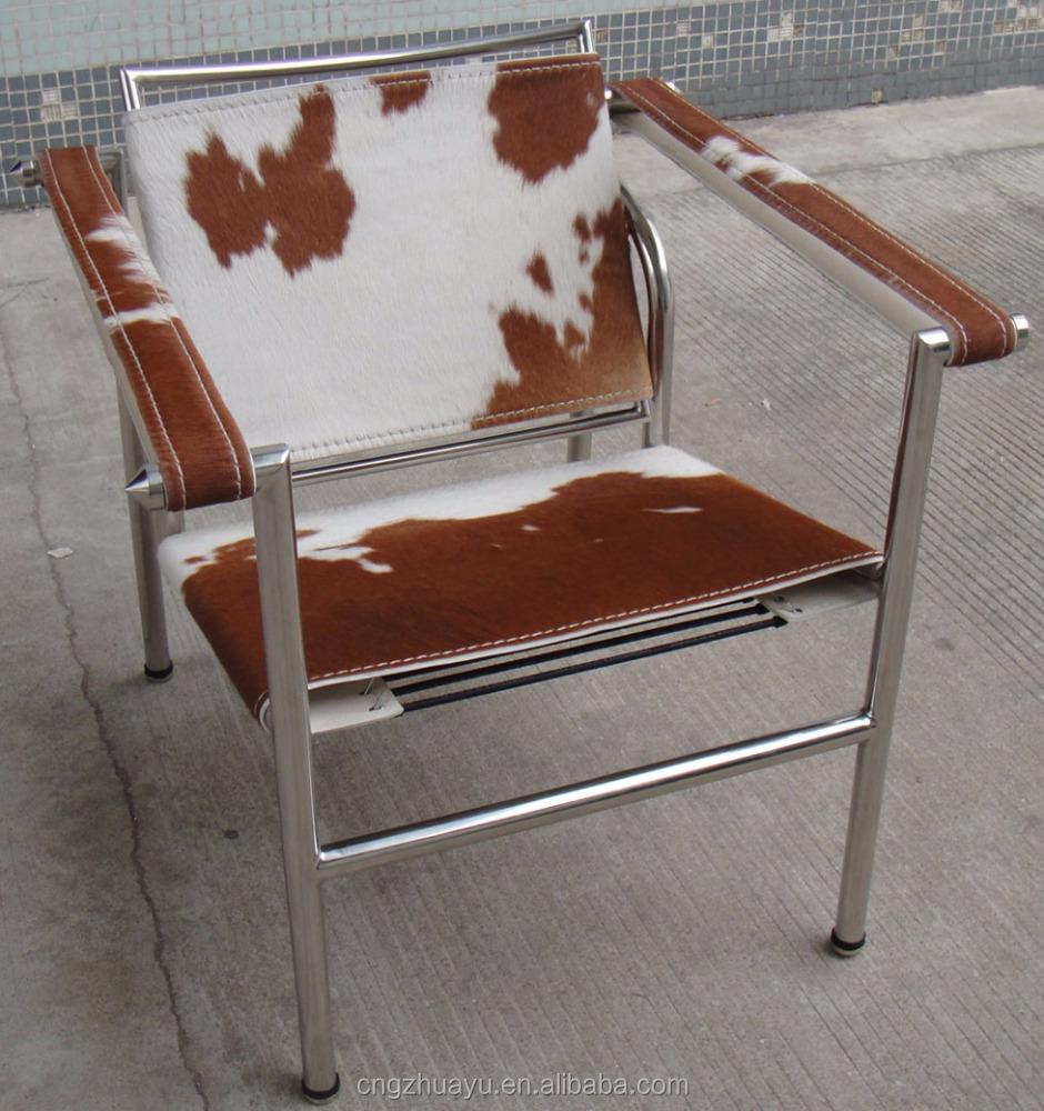 Moderna pelle bovina le corbusier lc1 fionda sedia sedia in metallo id prodotto 1108677655 - Le corbusier sedia ...