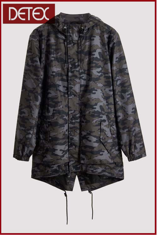 New Fashion Design Mens Printed Camo Parka Jacket