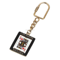 Nevada Personalized Key Chains Las Vegas Casino Gold Plating Spinner Keychain Epoxy Coating Poker Playing Card Key Holder