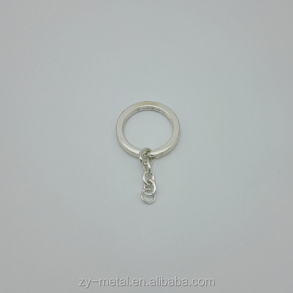 Hot sell metal plain key chain cheap custom key ring