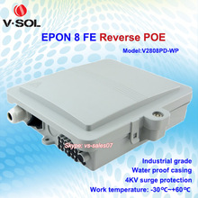 4KV surge protection 8 FE ports outdoor waterproof industrial reverse POE ONU
