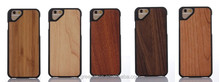 Wooden/Bamboo+PC Triangular Camera One Piece Cell Phone Case for Iphone6/6s