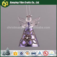 Color brilliancy New product Promotion light up glass angel