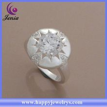 New products wholesale price 925 silve plated latest design diamond ring AR745