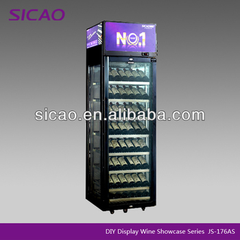 176 Bottles Refrigerated Wine Glass Display Cabinet Commercial Kitchen Hotel Equipment wine storage cabinets