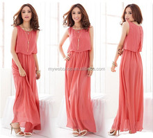 Sexy Women Summer Boho Long Bohemia Evening Party Chiffon Dress Beach Dresses