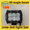 IP67 4inch genuine cree spot/flood beam offroad 18W led light bar /working light 12V/24V for trucks
