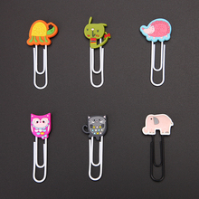 animal shape pvc rubber bookmark