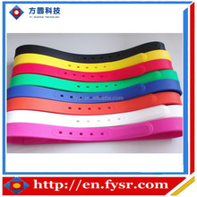 2016 Fashion silicone belt/sports silicone belt/silicone belt with plastic buckle