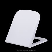 Castorama Square shaped one button quick release soft close Duroplast toilet seat
