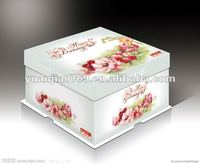cake box with food pattem on the cover