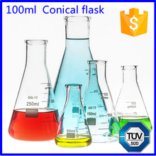 100ml Borosilicate Glass Conical Flask Manufacturer supply
