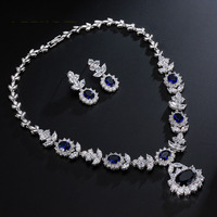 AAA zircon factory price crystal silver jewelry set bridal accessory women gift